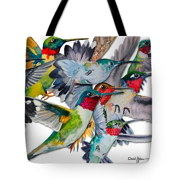 Da053 Multi-hummers By Daniel Adams Tote Bag