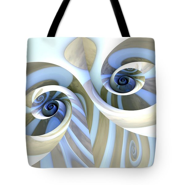 Multi-swirl Tote Bag by Kevin Trow