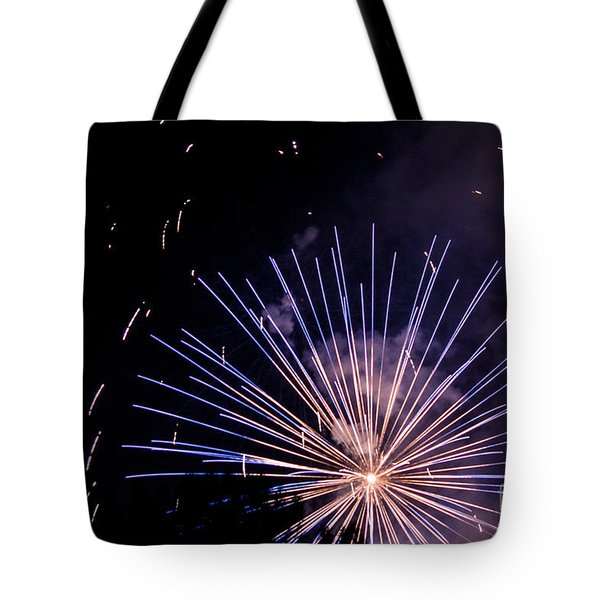 Multicolor Explosion Tote Bag by Suzanne Luft