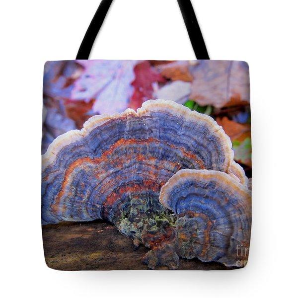 Multicolor Mushroom Tote Bag