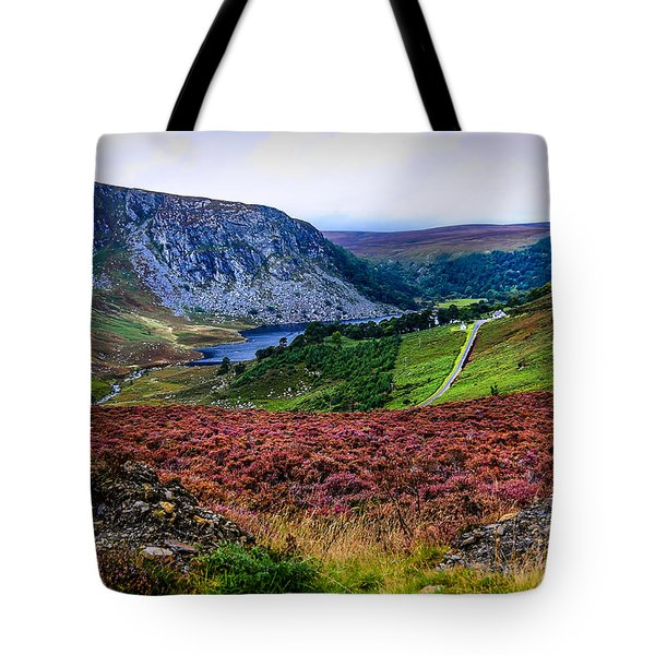 Multicolored Carpet Of Wicklow Hills. Ireland Tote Bag