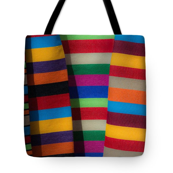 Tote Bag featuring the photograph Multicolour Horizontal Line by Edgar Laureano