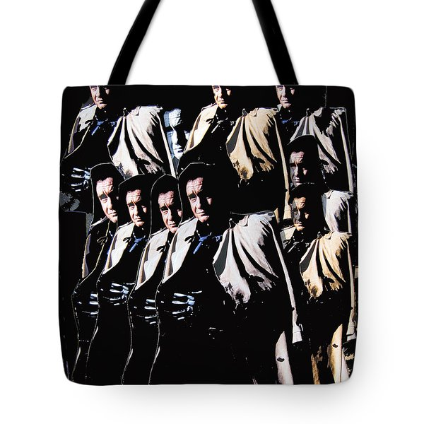 Tote Bag featuring the photograph Multiple Johnny Cash In Trench Coat 1 by David Lee Guss