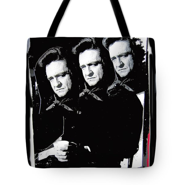Tote Bag featuring the photograph Multiple Johnny Cash Sitting Old Tucson Arizona 1971-2008 by David Lee Guss