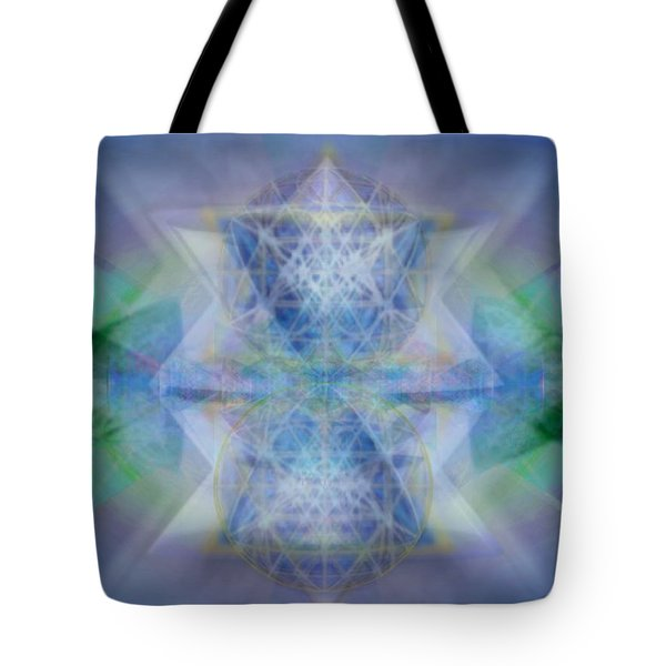 Multivortex 3d Chalice With Horizontal Vortexes Tote Bag