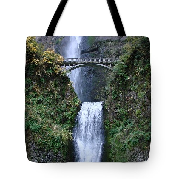 Tote Bag featuring the photograph Multnomah Falls by Athena Mckinzie