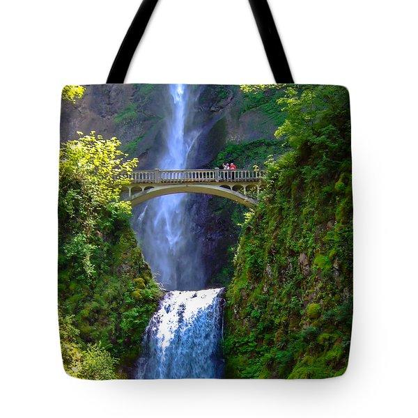 Multnomah Falls Tote Bag by Marc Crumpler