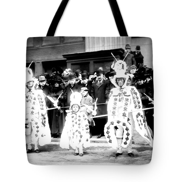 Mummers Circa 1909 Tote Bag by Bill Cannon