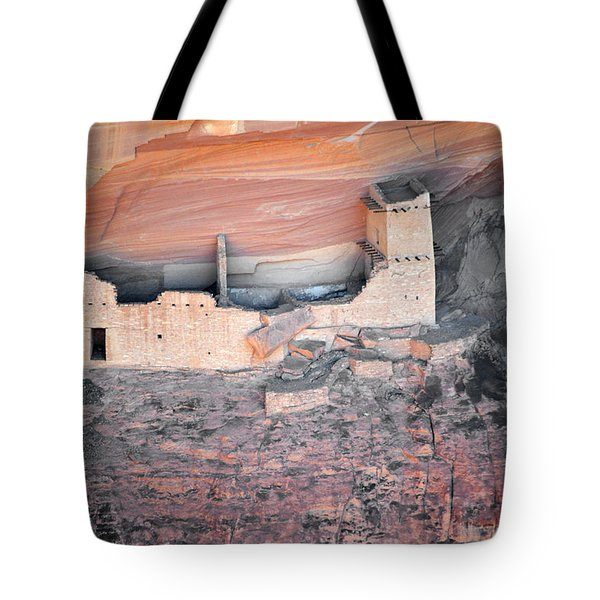 Mummy Cave Ruin Canyon Del Muerto Tote Bag by Christine Till