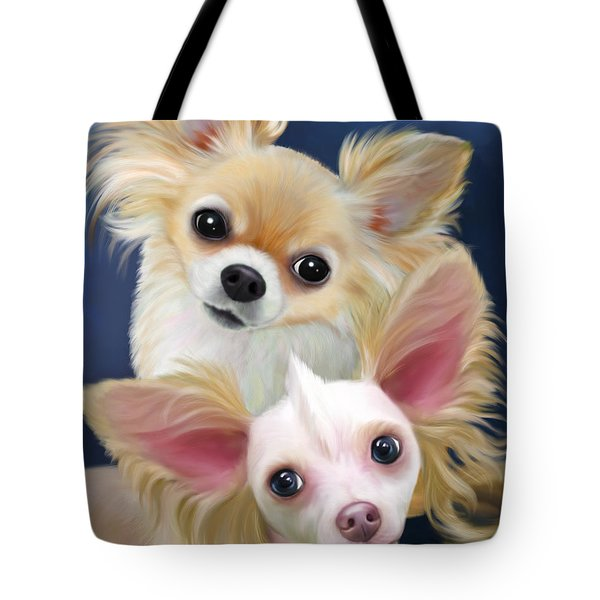 Munchie And Tuffy Tote Bag by Catia Cho