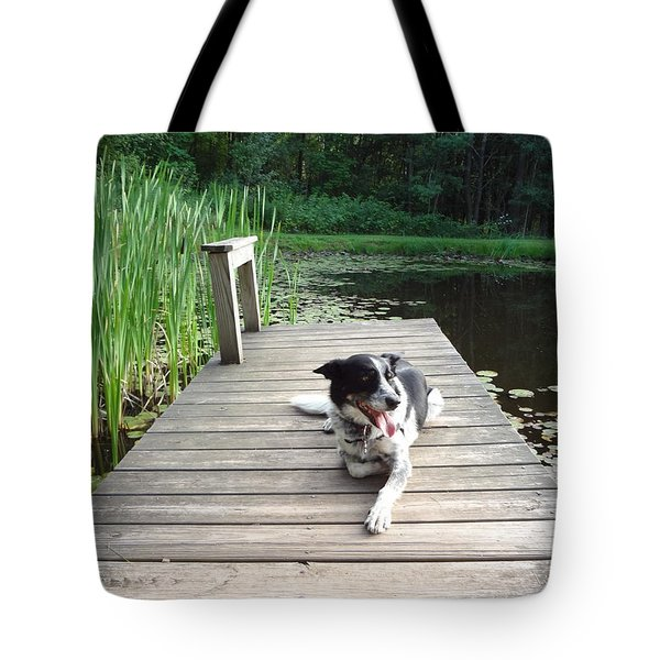Mundee On The Dock Tote Bag by Michael Porchik