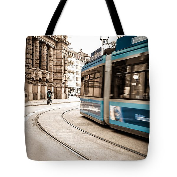 Munich City Traffic Tote Bag