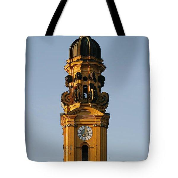Munich Theatine Church Of St. Cajetan - Theatinerkirche St Kajetan Tote Bag by Christine Till