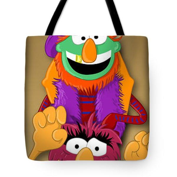 Muppet's Stretching Room Portrait #1 Tote Bag by Lisa Leeman