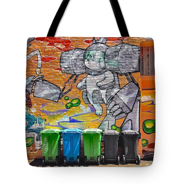 Mural And Bins Tote Bag