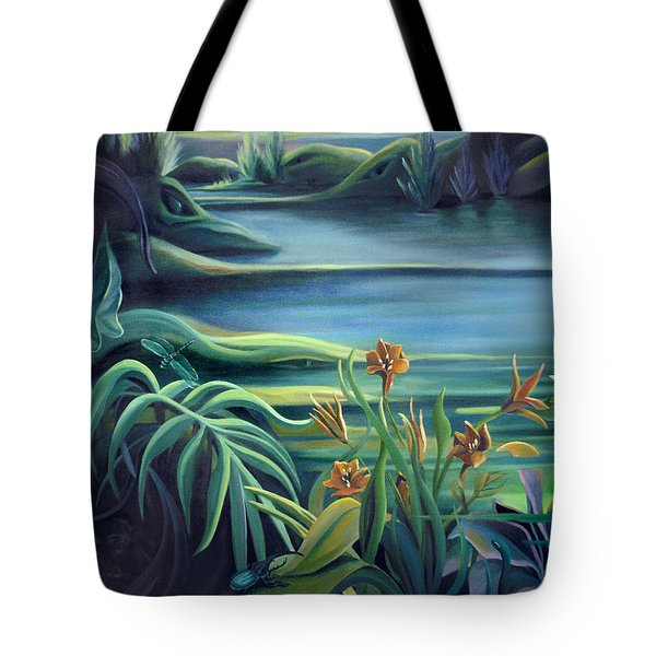 Mural Bird Of Summers To Come Tote Bag