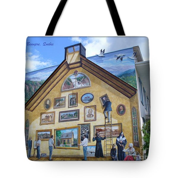 Mural In Beaupre Quebec Tote Bag by Lingfai Leung