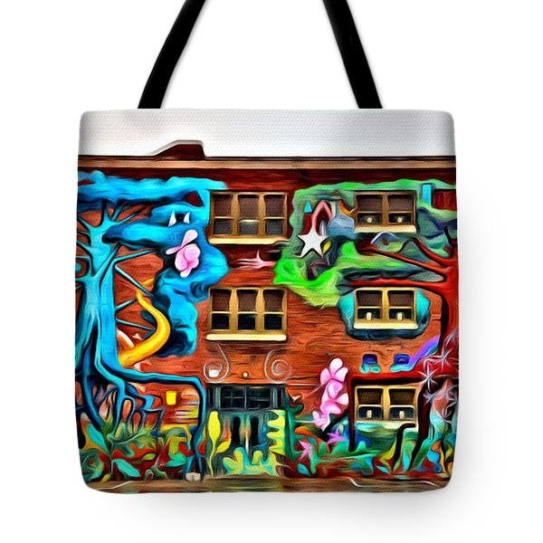 Mural On School Tote Bag by Alice Gipson