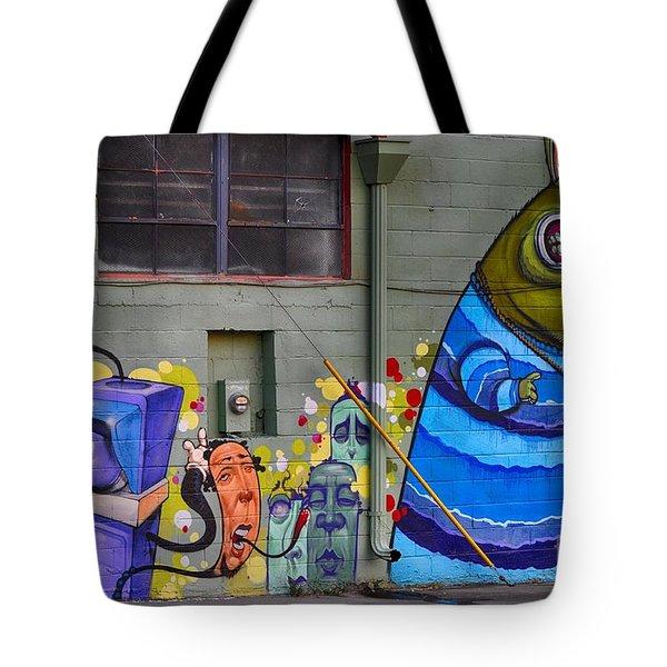 Mural - Wall Art Tote Bag by Liane Wright