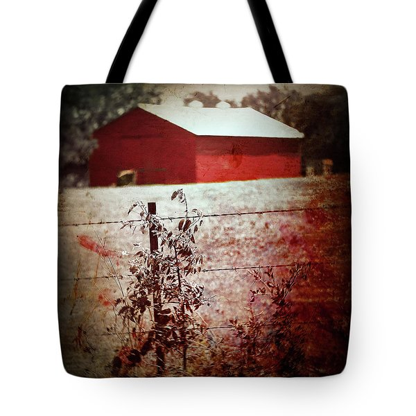 Murder In The Red Barn Tote Bag by Trish Mistric
