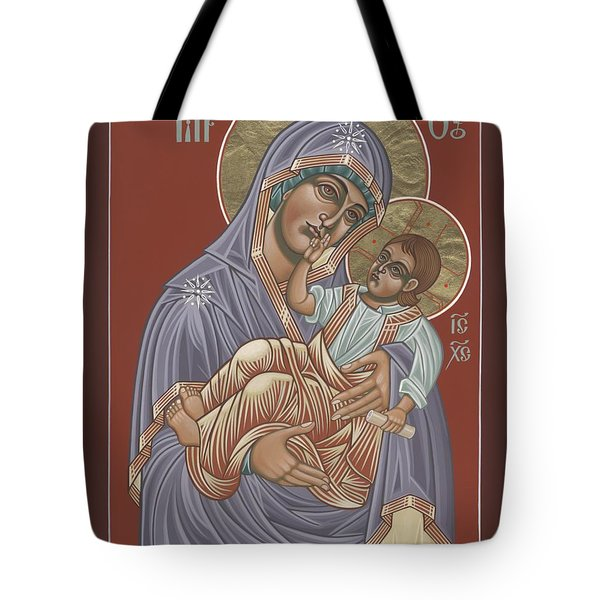 Tote Bag featuring the painting Murom Icon Of The Mother Of God 230 by William Hart McNichols