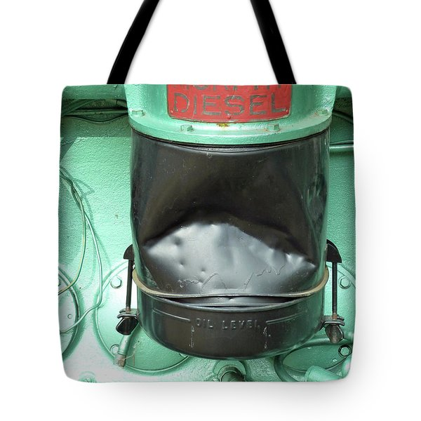 Tote Bag featuring the photograph Murphy Diesel by Newel Hunter