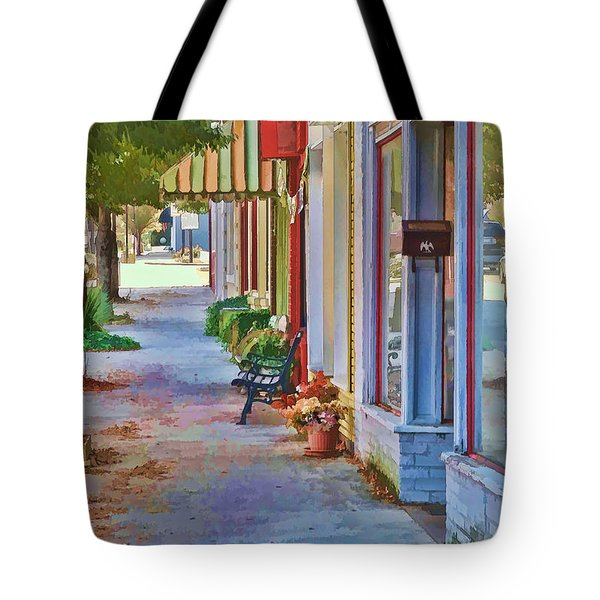 Tote Bag featuring the photograph Murphy Nc Sidewalk by Kenny Francis