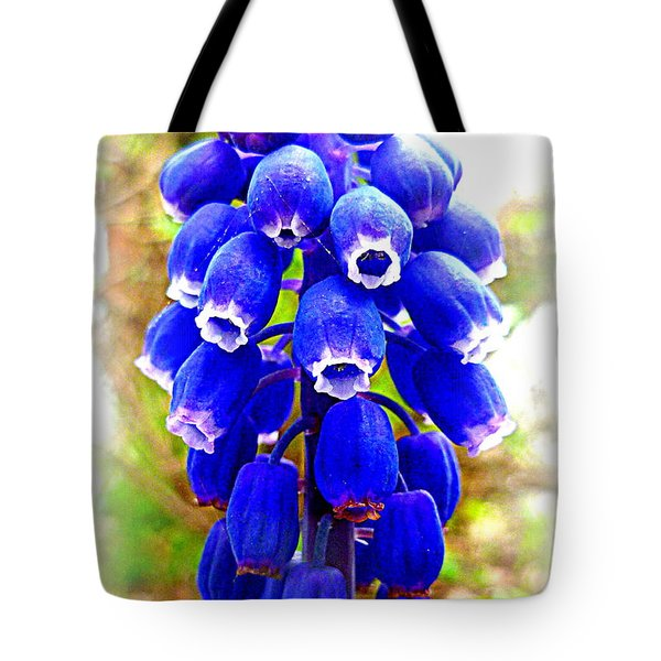 Muscari Grape Hyacinth Tote Bag by The Creative Minds Art and Photography