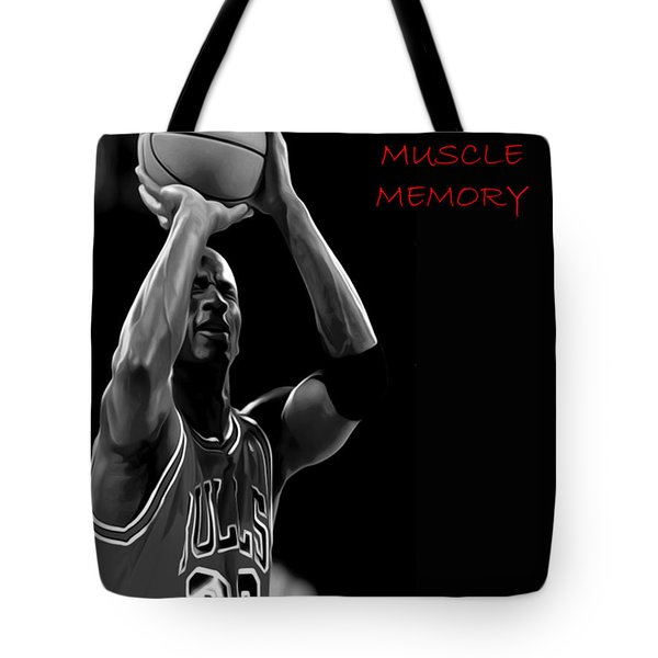 Tote Bag featuring the painting Muscle Memory by Brian Reaves