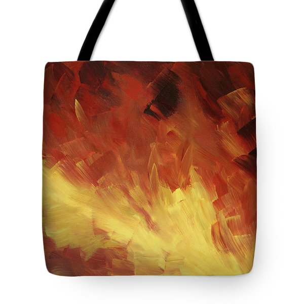 Muse In The Fire 2 Tote Bag by Sharon Cummings