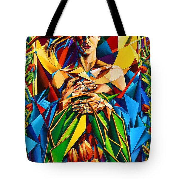 Tote Bag featuring the painting Muse  Spring by Greg Skrtic