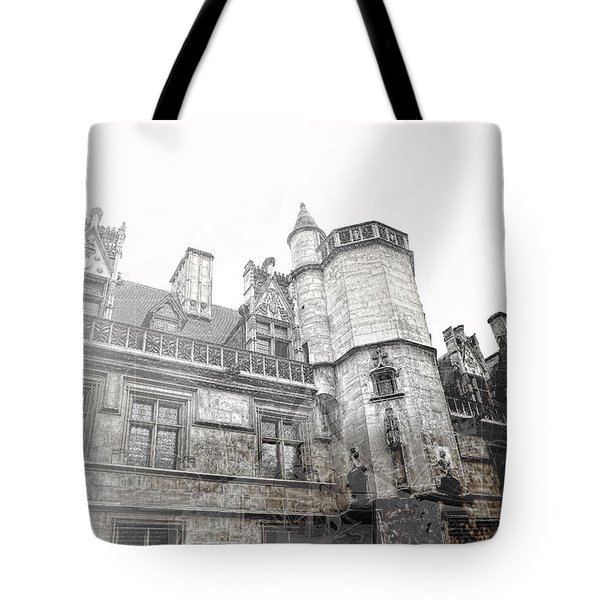 Musee De Cluny When The World Was Flat Tote Bag by Evie Carrier