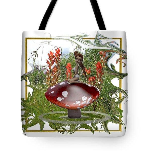 Mushroom Fairy Tote Bag by Jennifer Schwab