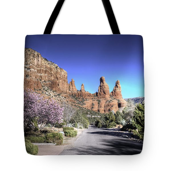 Tote Bag featuring the photograph Mushroom Rock by Lynn Geoffroy