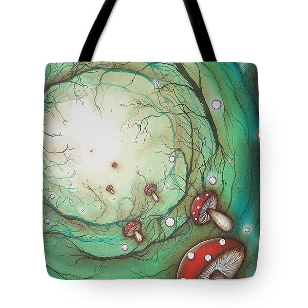 Mushroom Time Tunel Tote Bag