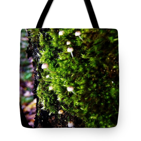 Mushrooms Tote Bag by Vanessa Palomino
