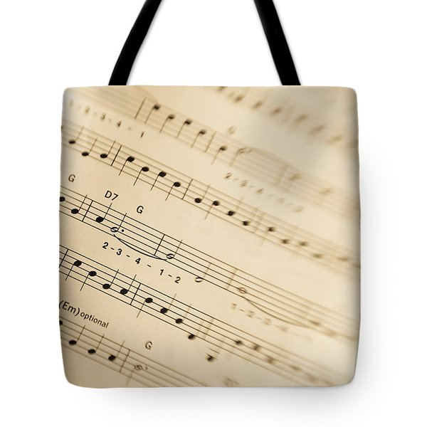 Music Tote Bag by Alexey Stiop