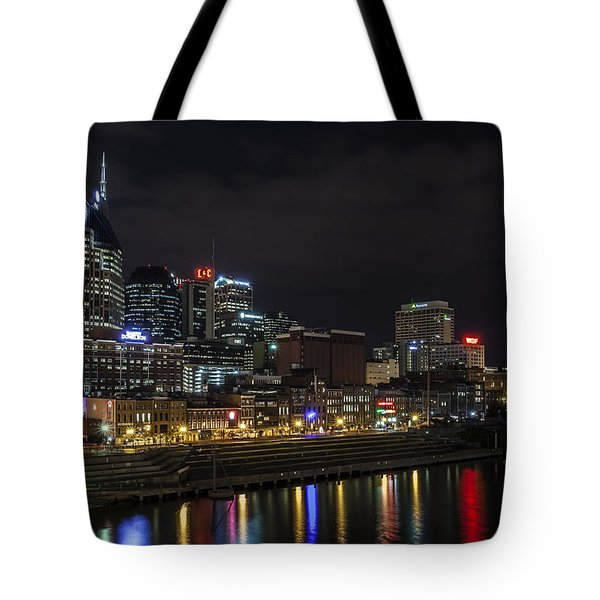 Music And Lights Tote Bag