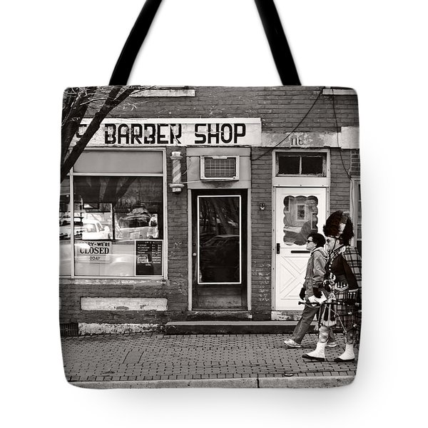 Music - Bag Piper - Somerville Nj -  The Scottsman Tote Bag by Mike Savad