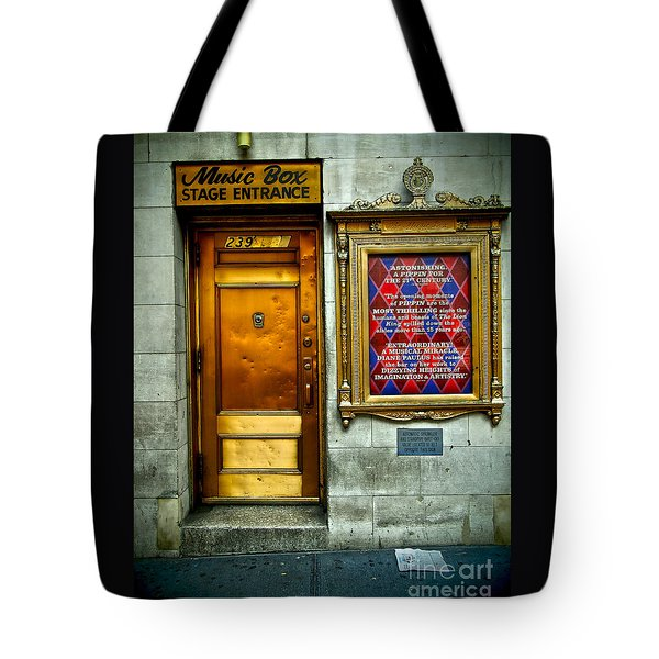 Music Box Stage Entrance Tote Bag