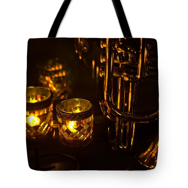 Trumpet And Candlelight Tote Bag