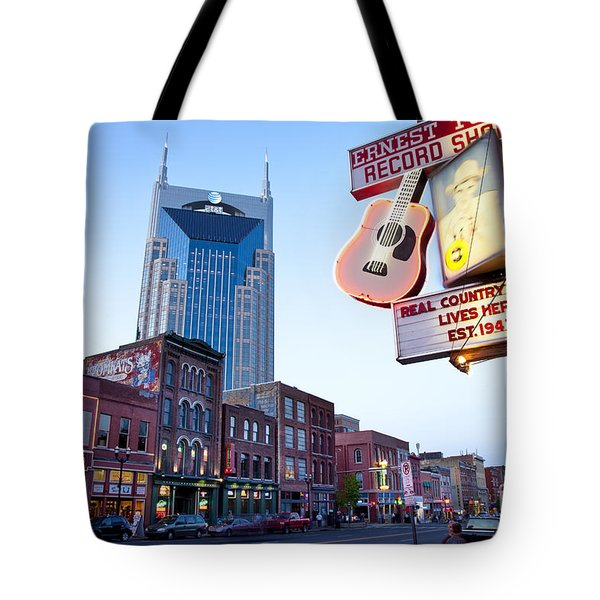 Music City Usa Tote Bag