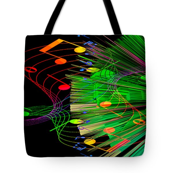 Music Colors The World 3 Tote Bag by Angelina Vick