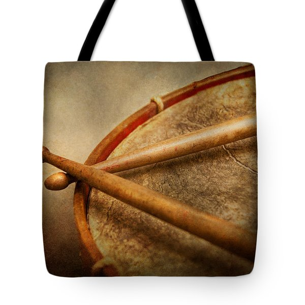 Music - Drum - Cadence  Tote Bag by Mike Savad