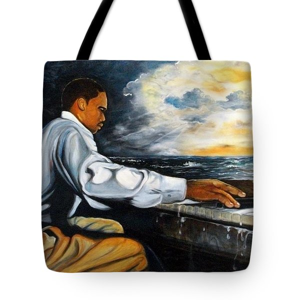 Tote Bag featuring the painting Music by Emery Franklin