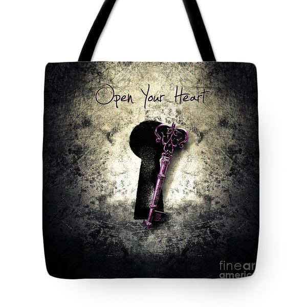 Music Gives Back - Open Your Heart Tote Bag