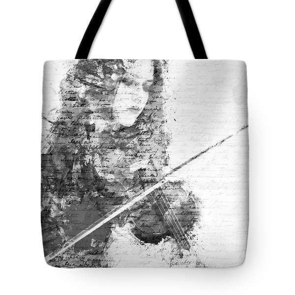 Music In My Soul Black And White Tote Bag by Nikki Marie Smith