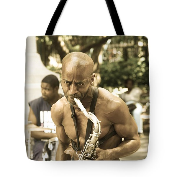 Music In The Park Tote Bag by Menachem Ganon