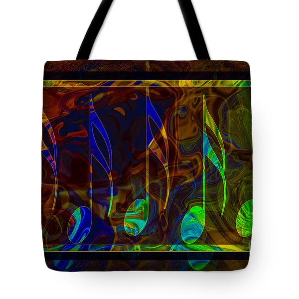 Music Is Magical Abstract Healing Art Tote Bag