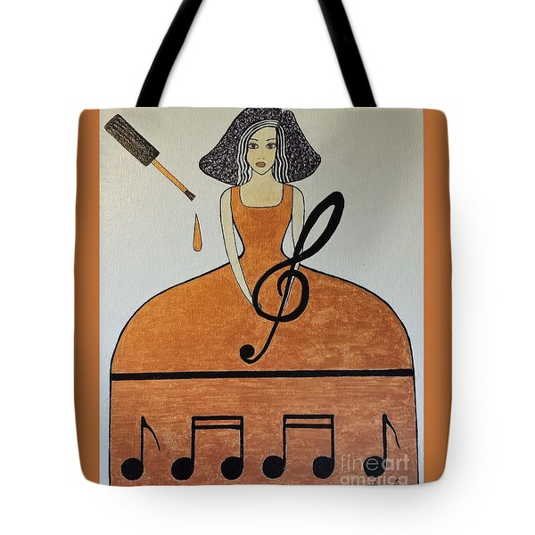 Music Lover Tote Bag by Jasna Gopic